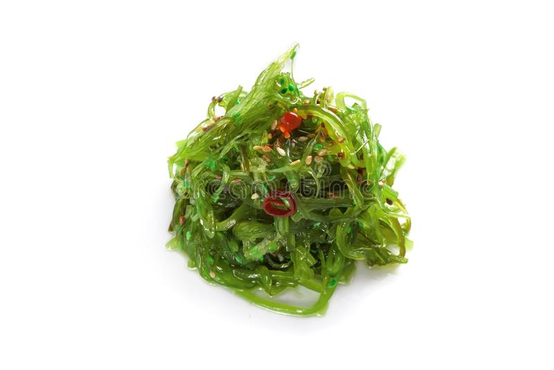 Seaweed Chuka with sesame seeds stock photos