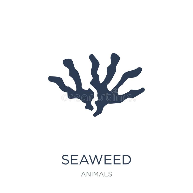 Seaweed icon. Trendy flat vector Seaweed icon on white background from animals collection. Vector illustration can be use for web and mobile, eps10 royalty free illustration
