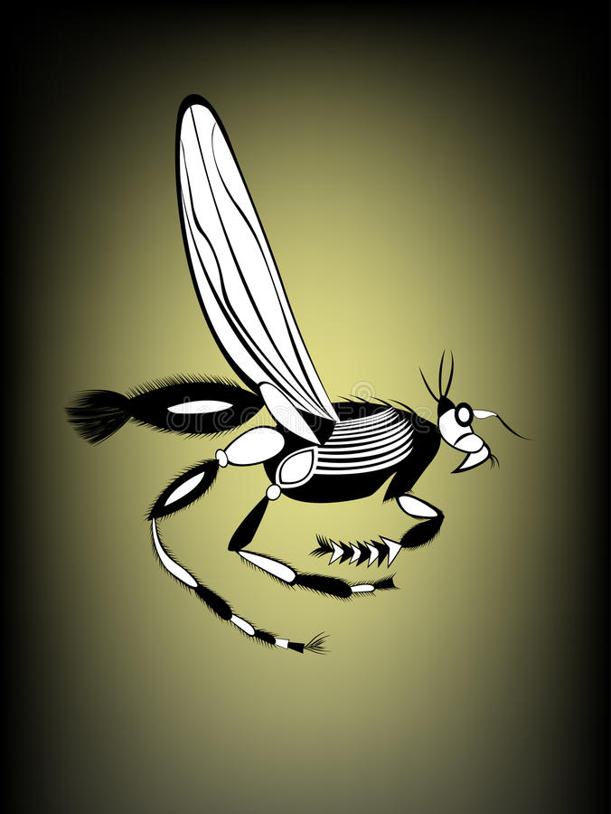 Seaweed runner, royalty free illustration