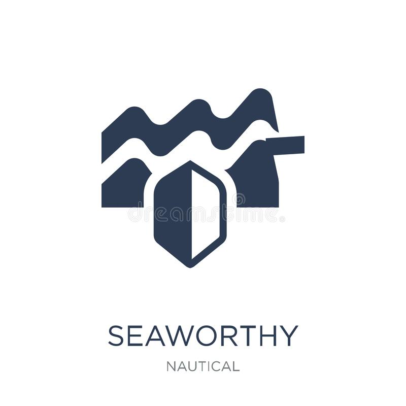 Seaworthy icon. Trendy flat vector Seaworthy icon on white background from Nautical collection stock illustration