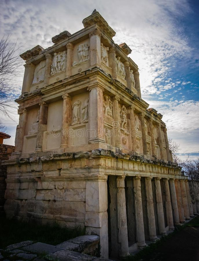 The Sebasteion of Aphrodisias Afrodisias Ancient City in Caria, Karacasu, Aydin, Turkey. Aphrodisias was named after Aphrodite stock photo