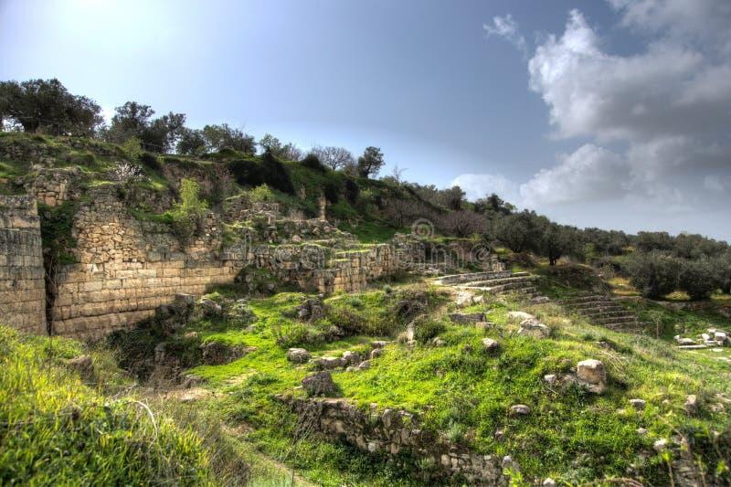 Sebastia考古学古老废墟 免版税库存图片
