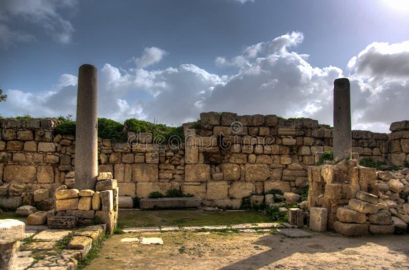 Sebastia考古学古老废墟 库存图片