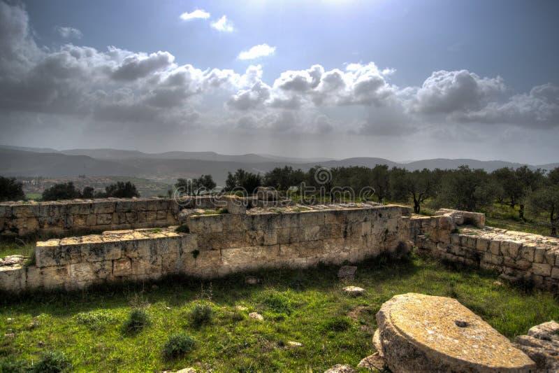Sebastia archeologii antyczne ruiny zdjęcie royalty free