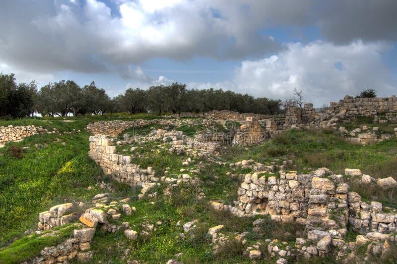 Sebastia archeologii antyczne ruiny zdjęcie stock