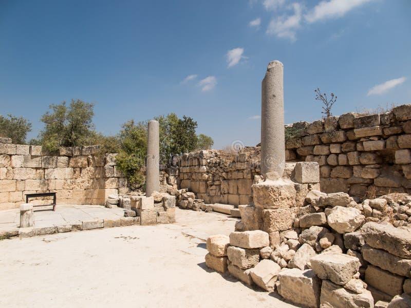 Sebastian, altes Israel, Ruinen und Aushöhlungen stockfotografie
