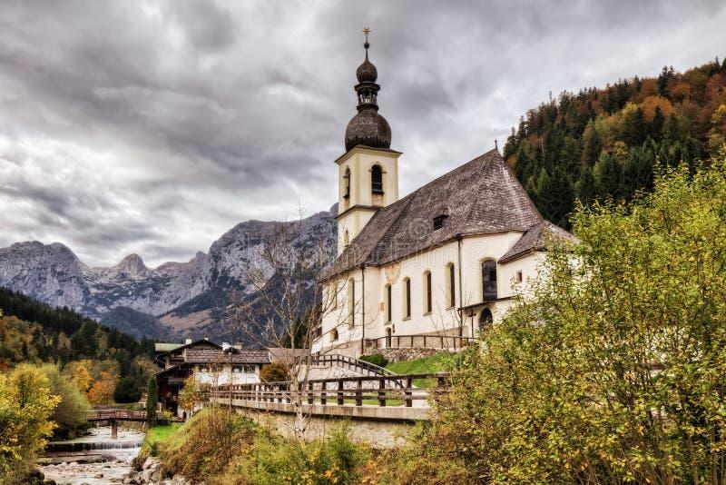 Sebastian Church em Berchtesgaden foto de stock royalty free
