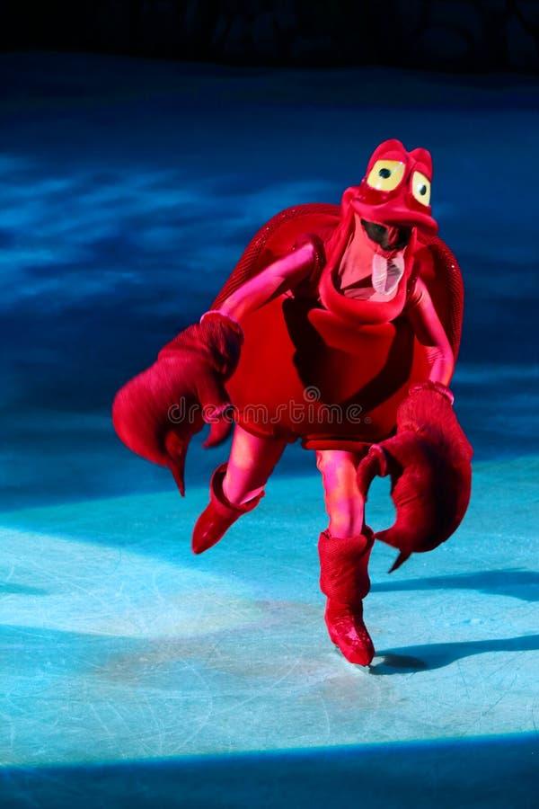 Sebastian of The Little Mermaid. Philippines - December 26, 2012. Sebastian in Disney On Ice: Princesses & Heroes at Smart Araneta, Cubao Quezon City royalty free stock photography