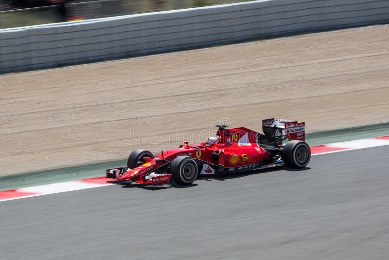 Sebastian Vettel à mamie Prix 2015 de Barcelone de la formule 1 photographie stock libre de droits