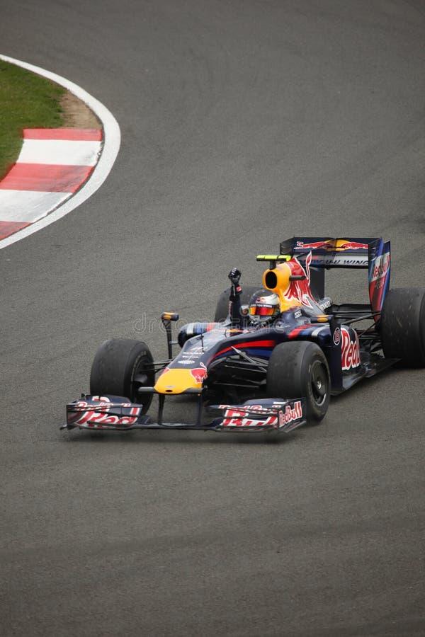 Sebastian Vettel beim britischen großartigen Prix lizenzfreie stockbilder