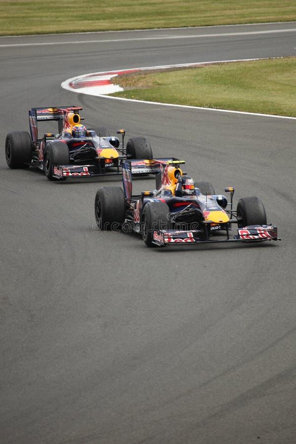 Sebastian Vettel no Prix grande britânico imagem de stock royalty free