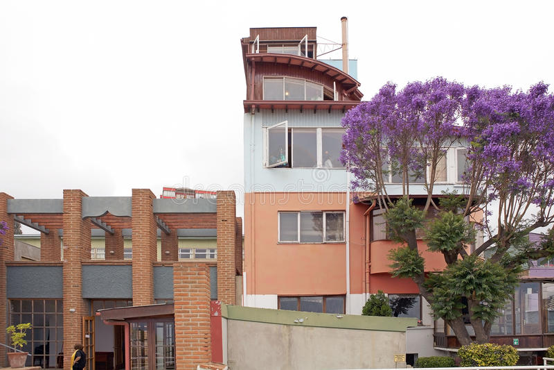 Sebastiana de La à Valparaiso, Chili image stock