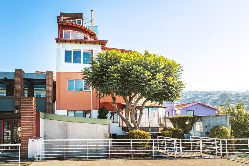 Sebastiana do La, a casa do poeta Pablo Neruda - Valparaiso, o Chile fotografia de stock royalty free