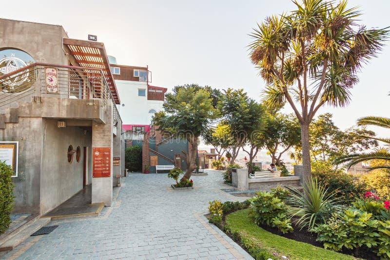 Sebastiana do La, a casa do poeta Pablo Neruda - Valparaiso, o Chile foto de stock