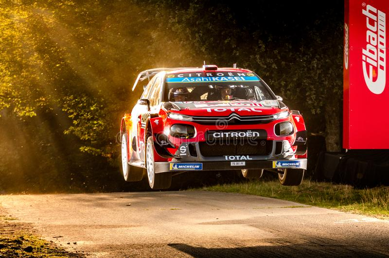 Sebastien Ogier and Julien Ingrassia at ADAC Rally Germany stock photo