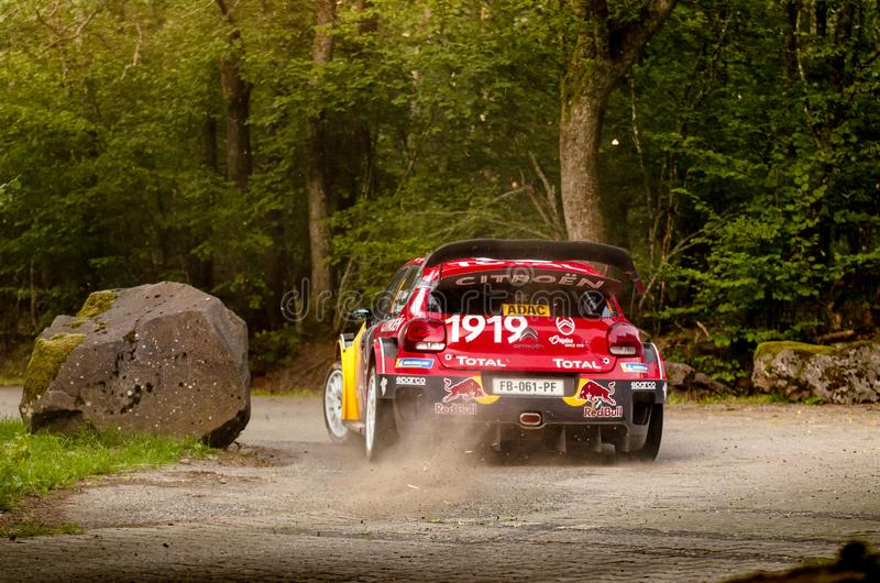 Sebastien Ogier and Julien Ingrassia at ADAC Rally Germany stock photos
