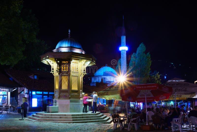 Sebilj и сцена улицы, Сараево стоковое фото