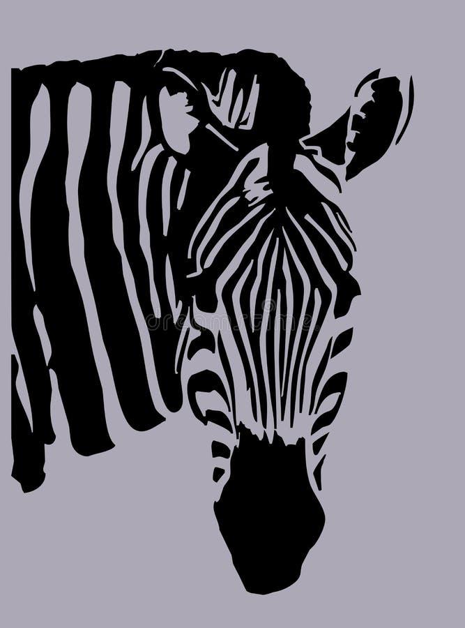 sebra royaltyfri illustrationer