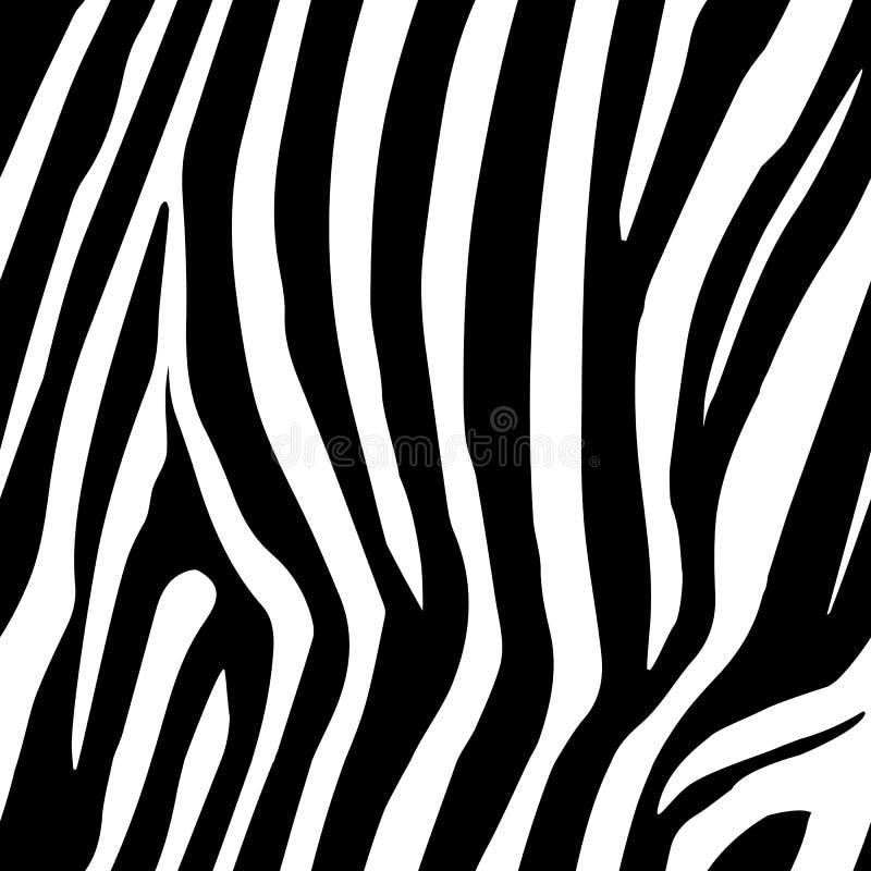 Sebran gör randig den sömlösa modellen Sebratryck, djur hud, tigerband, abstrakt modell, linje bakgrund, tyg Fantastisk hand D stock illustrationer