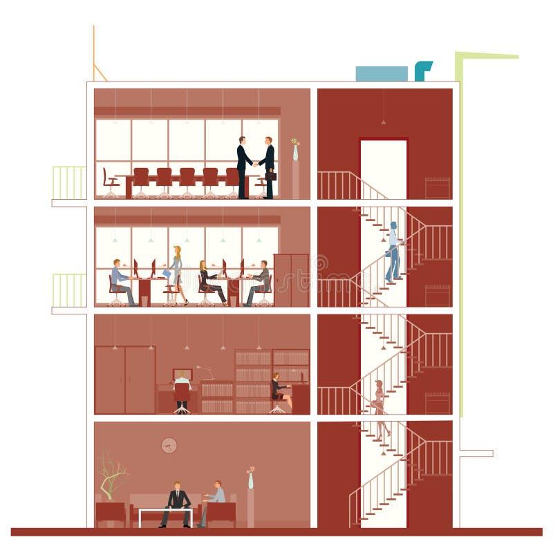 Secção transversal de construção ilustração royalty free