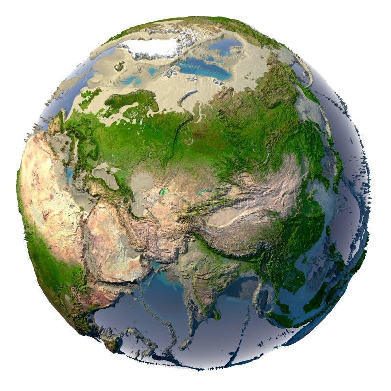 Seca na terra do planeta ilustração royalty free