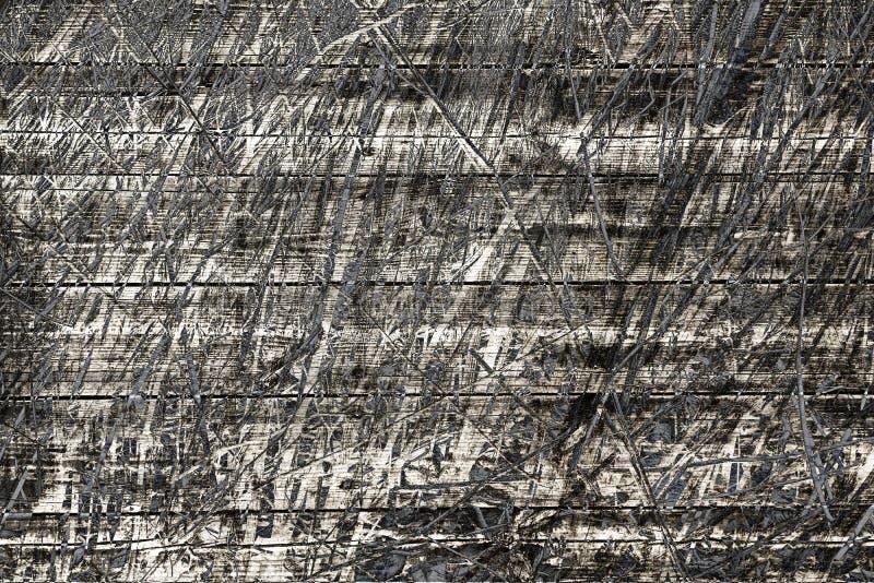 Secado cobrir com sapê e textura das placas de madeira ilustração royalty free