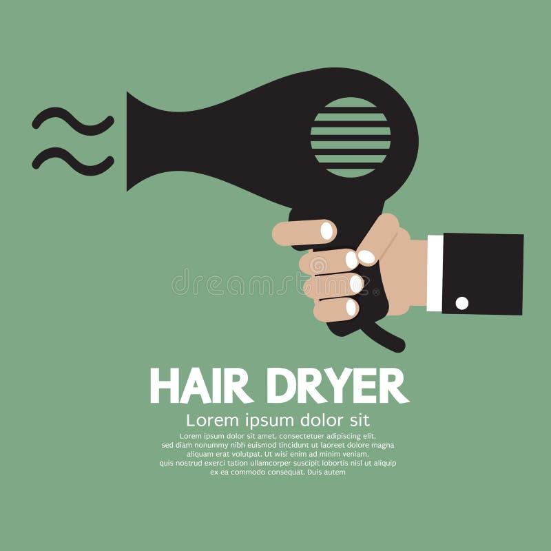 Secador de cabelo ilustração do vetor