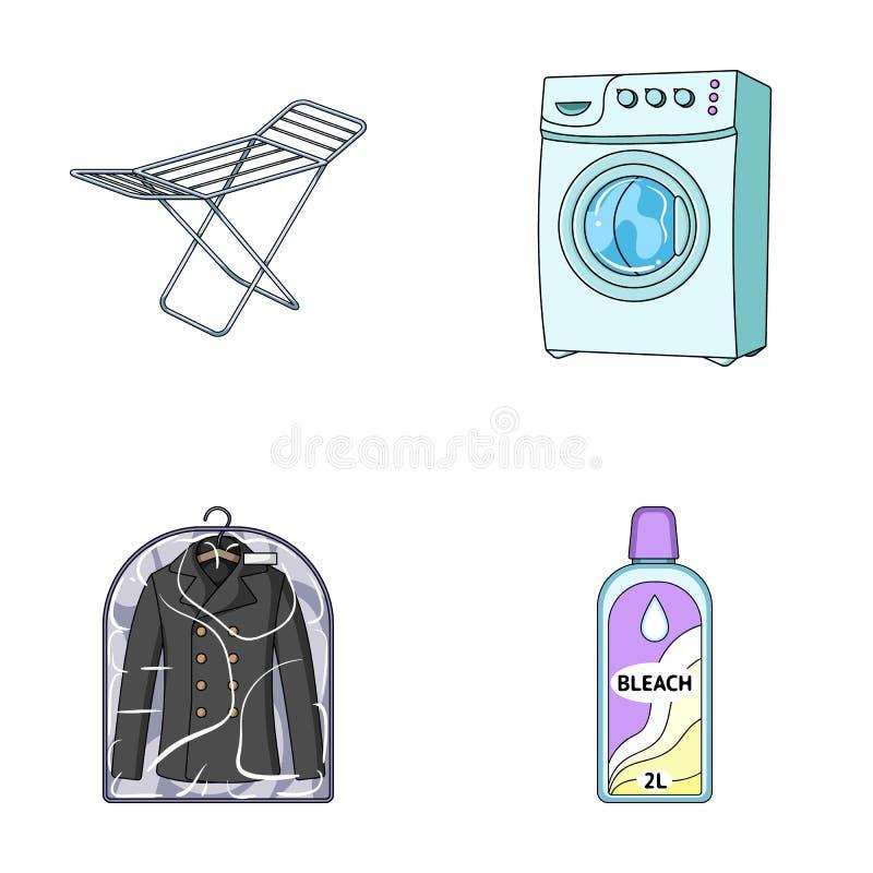 Lavadora y ropa limpia ilustraci n del vector ilustraci n - Limpieza en seco en casa ...