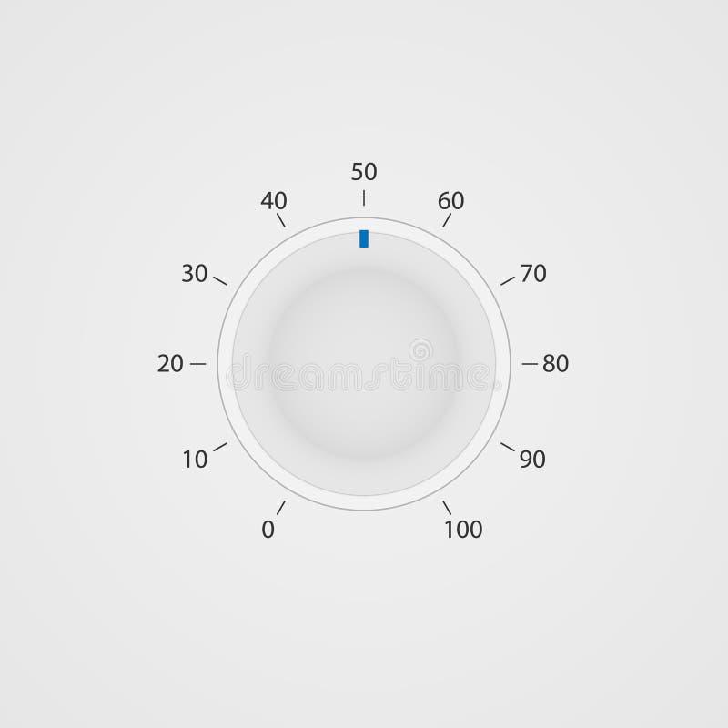 Secadora de roupa branca do painel de controle do vetor ilustração stock