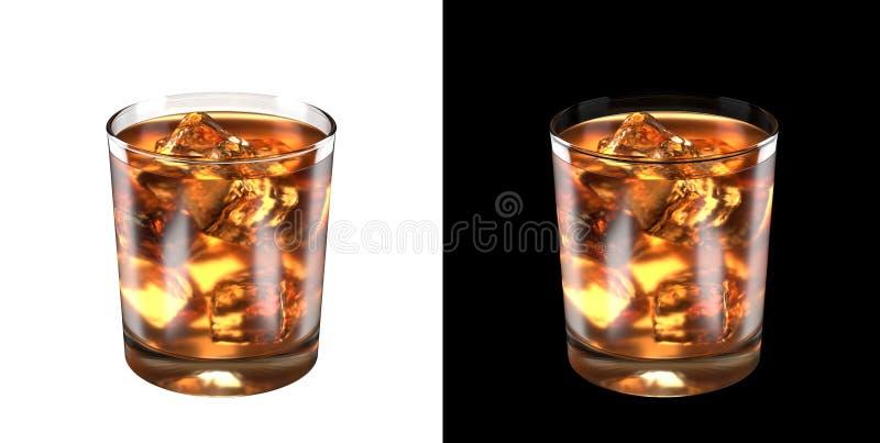 Secadora de roupa congelada antiquado do vidro de cocktail no fundo homogêneo imagem de stock royalty free