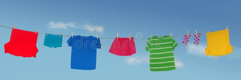 Secagem da lavanderia fotos de stock royalty free