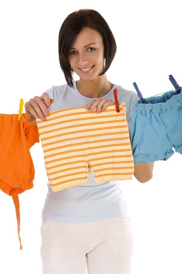Secagem da lavanderia fotos de stock