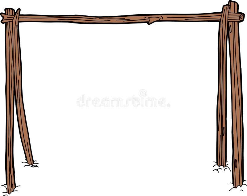 Secando ou cozinhando a cremalheira ilustração do vetor