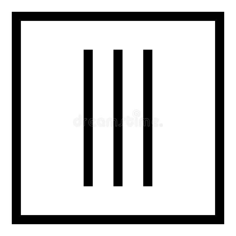 Secar sem roupa da rotação importa-se os símbolos que lavam da ilustração preta do vetor da cor do ícone do sinal da lavanderia d ilustração stock