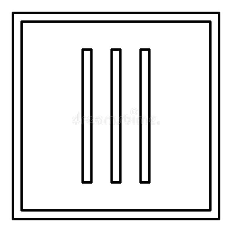 Secar sem roupa da rotação importa-se os símbolos que lavam da ilustração preta do vetor da cor do esboço do ícone do sinal da la ilustração royalty free