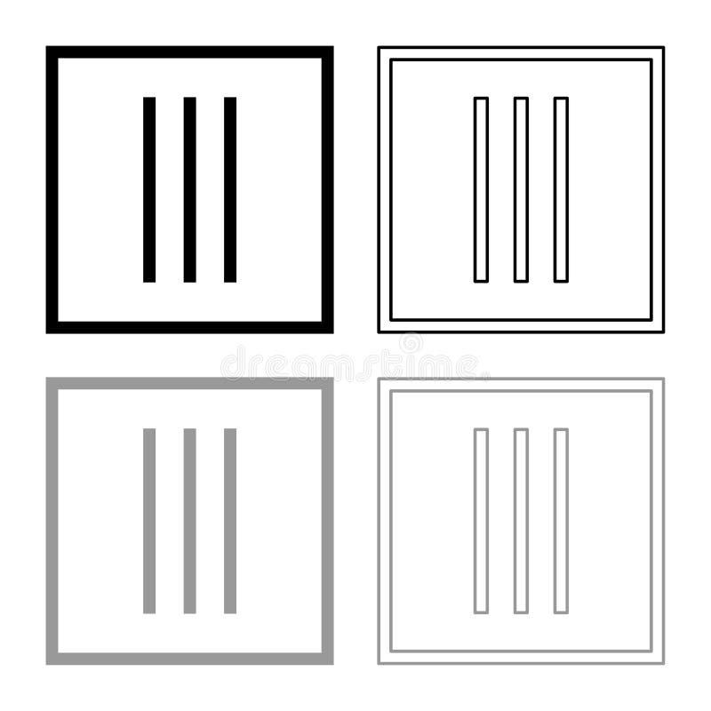 Secar sem roupa da rotação importa-se os símbolos que lavam o esboço do ícone do sinal da lavanderia do conceito ajustou a ilustr ilustração stock