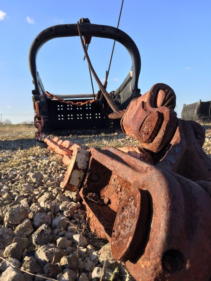 Secchio gigante della pala di estrazione mineraria immagini stock libere da diritti