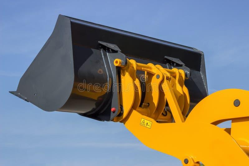 Secchio idraulico del buldozer fotografie stock libere da diritti
