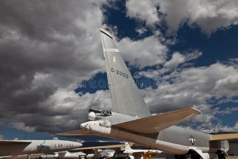 Sección de cola de Boeing Stratofortress B-52B imagen de archivo libre de regalías