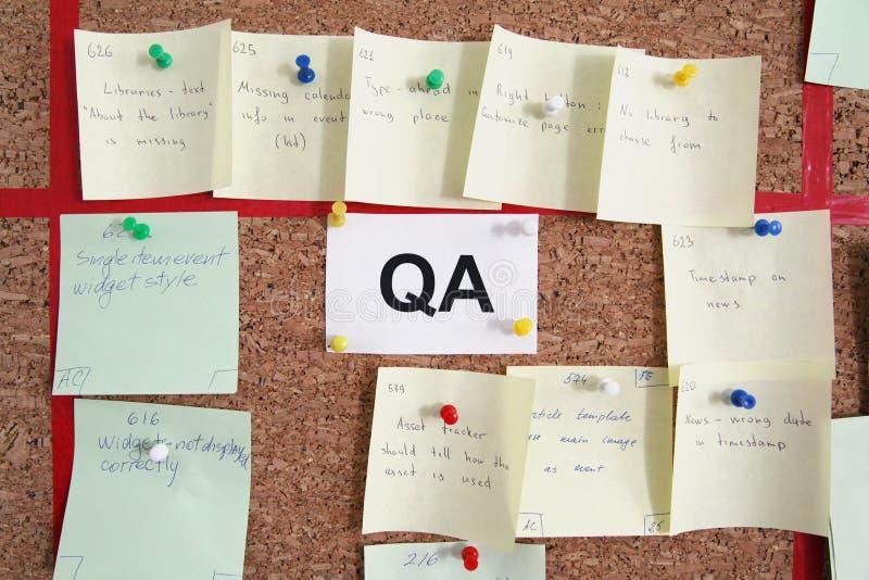 Tareas del QA fotos de archivo libres de regalías