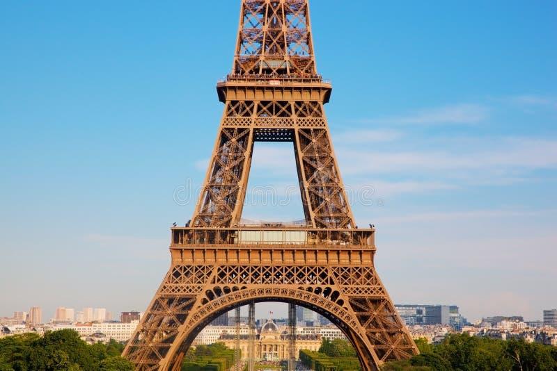 Sección de la torre Eiffel, París, Francia fotos de archivo libres de regalías