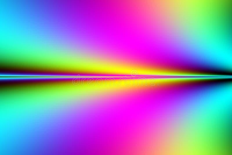 Sección de un fractal colorido ilustración del vector