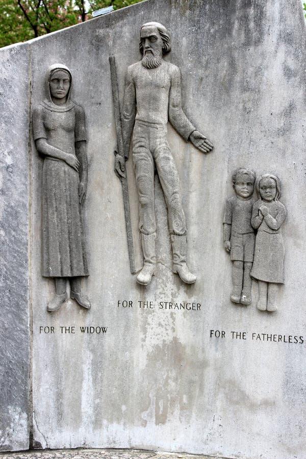 Sección del monumento histórico del tricentenario que honra a la comunidad judía, Forest Park, St. Louis, MES, 2019 foto de archivo libre de regalías