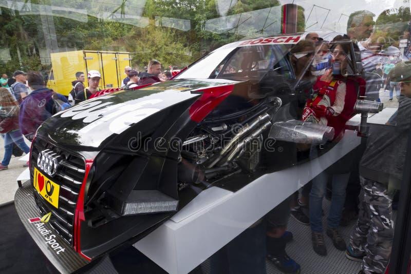Sección sobre un coche de Audi Sport imágenes de archivo libres de regalías