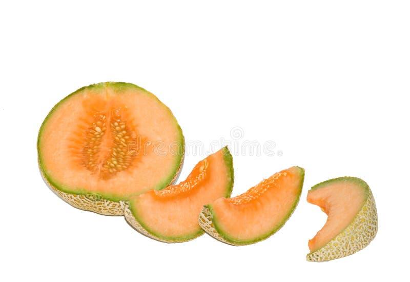Sección y segmentos del melón fotos de archivo