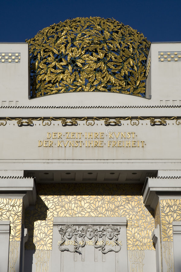 Secession, Art Nouveau in Vienna royalty free stock image