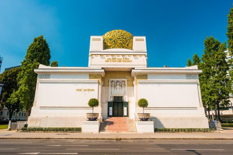 The Secession Building. Wiener Secessionsgebaude - exhibition hall built in 1897 by Joseph Maria Olbrich as architectural manifesto for Vienna Secession stock image