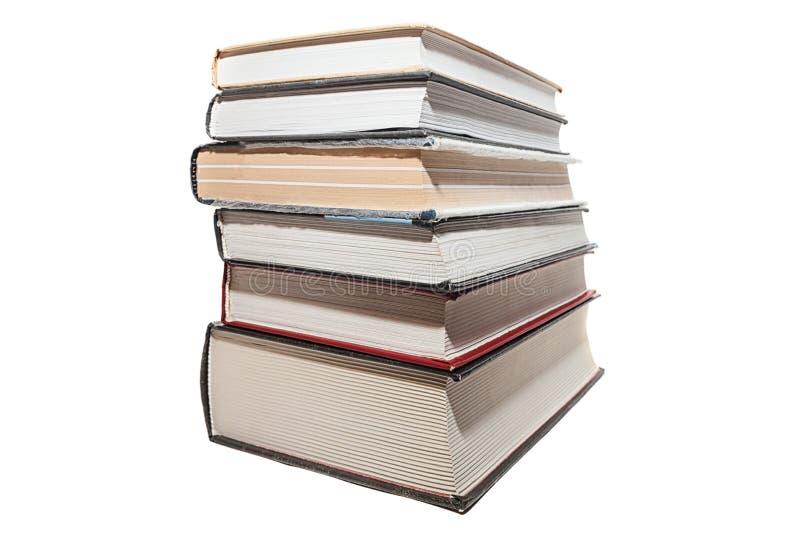 Sechs alte Bücher stockfotografie