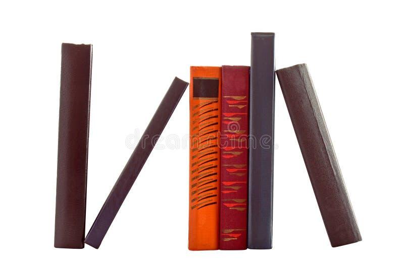 Sechs Bücher getrennt lizenzfreie stockbilder