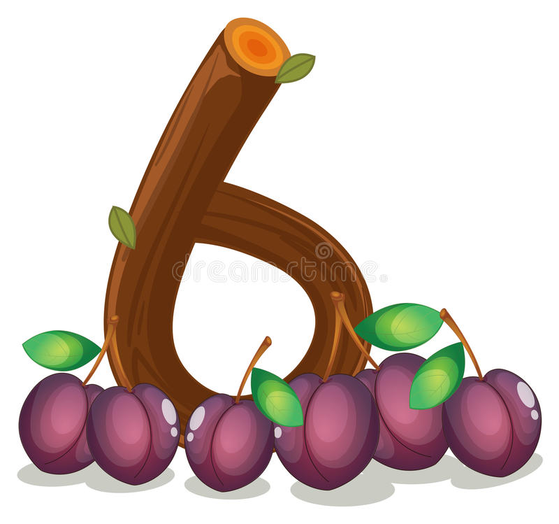 Sechs Veilchen Farbige Früchte Vektor Abbildung - Illustration von ...
